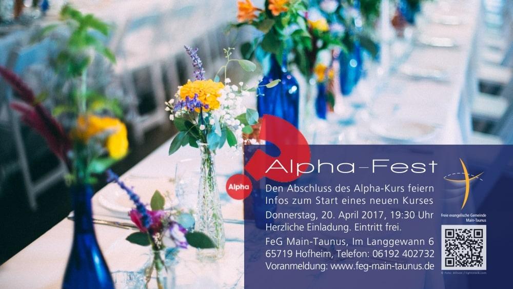 ALPHA-FEST: Abschluss feiern & Infos zum neuen Glaubenskurs