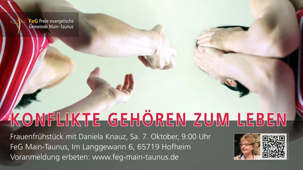 Konflikte gehören zum LebenFrauen-Frühstück mit Daniela Knauz