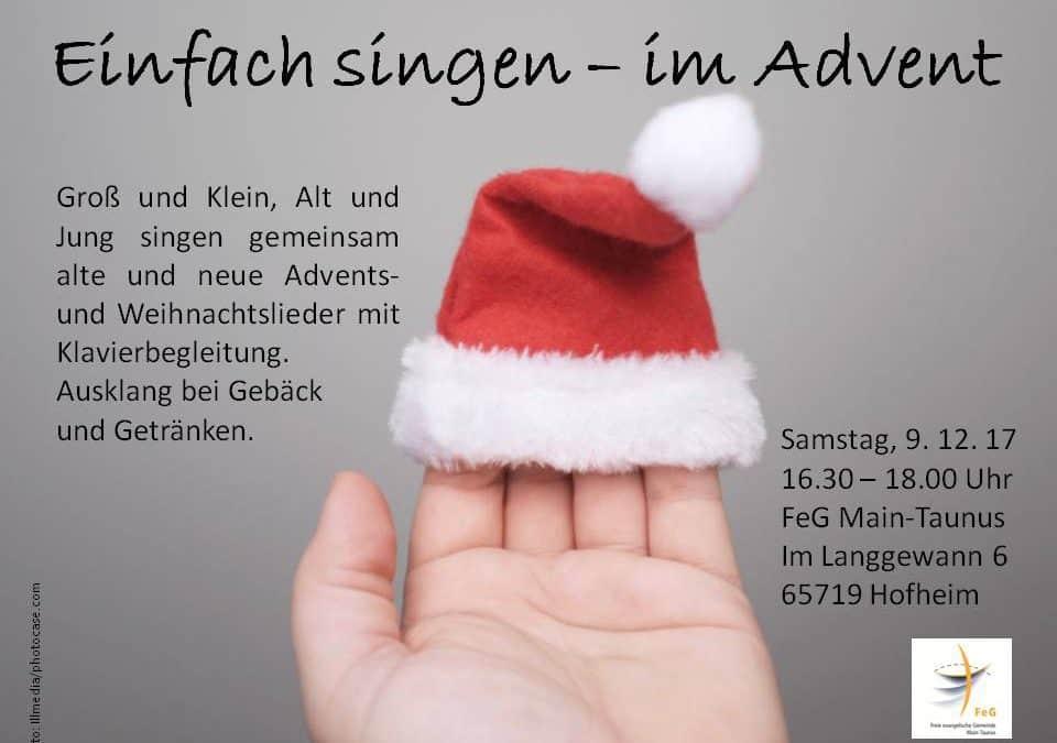 Einfach singen – im Advent